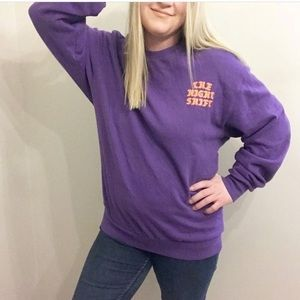 H&M Divided Purple Crew Neck Sweater Size Large